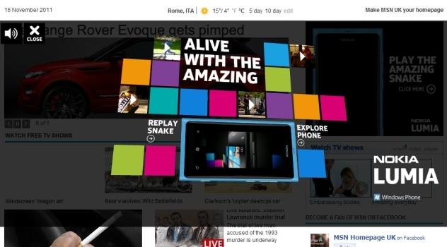 Snake, è online il popolare gioco di Nokia per celebrare l'uscita di Lumia 800